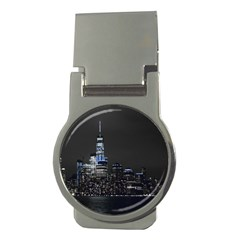 New York Skyline New York City Money Clips (round)  by Nexatart