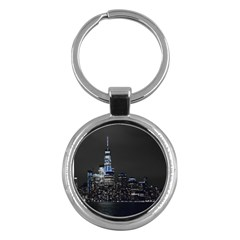 New York Skyline New York City Key Chains (round)  by Nexatart