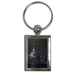 New York Skyline New York City Key Chains (rectangle)  by Nexatart