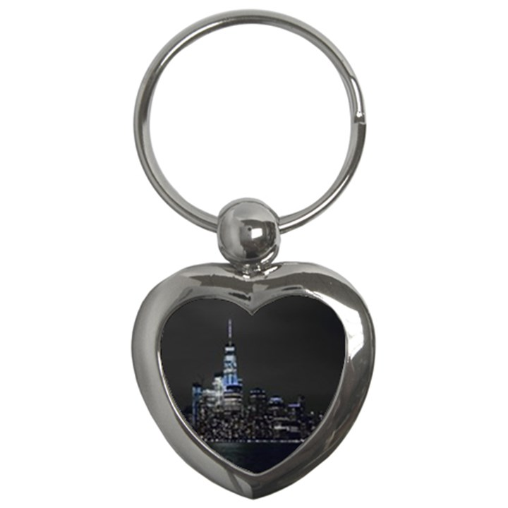 New York Skyline New York City Key Chains (Heart)