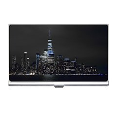 New York Skyline New York City Business Card Holder by Nexatart