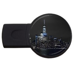 New York Skyline New York City Usb Flash Drive Round (2 Gb)
