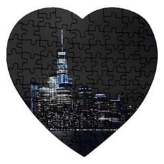 New York Skyline New York City Jigsaw Puzzle (heart) by Nexatart
