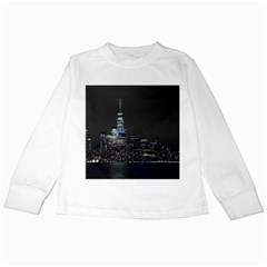 New York Skyline New York City Kids Long Sleeve T Shirts