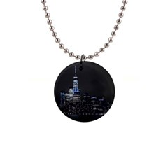 New York Skyline New York City Button Necklaces by Nexatart