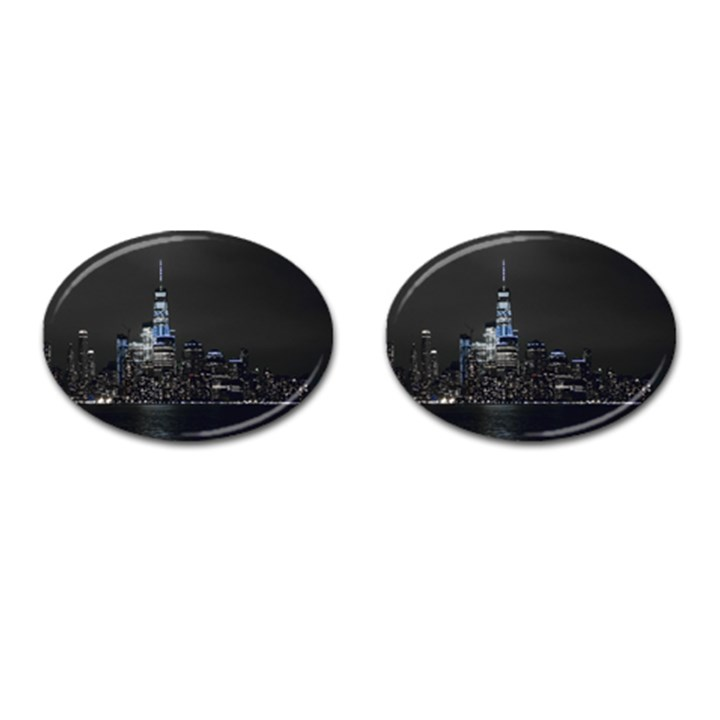New York Skyline New York City Cufflinks (Oval)