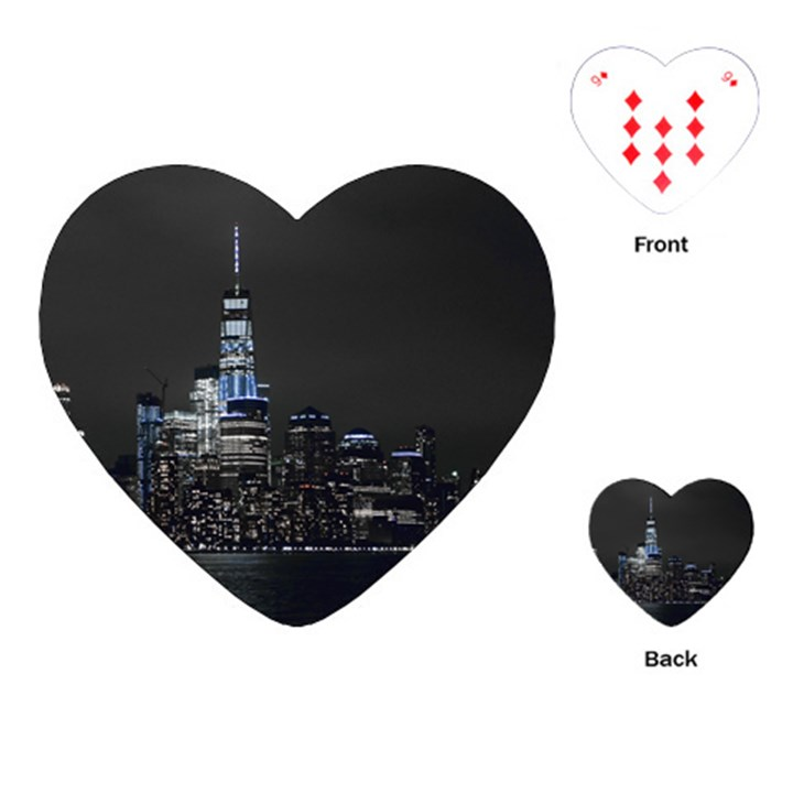 New York Skyline New York City Playing Cards (Heart)