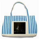 New York Skyline New York City Striped Blue Tote Bag Front