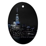 New York Skyline New York City Oval Ornament (Two Sides) Back
