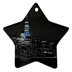 New York Skyline New York City Star Ornament (two Sides) by Nexatart