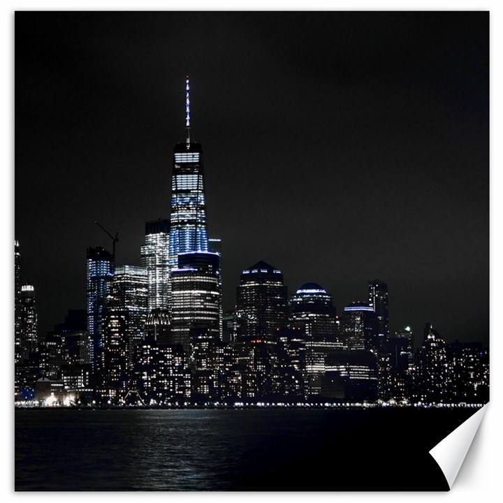 New York Skyline New York City Canvas 16  x 16