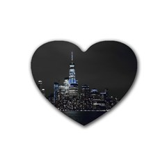 New York Skyline New York City Rubber Coaster (heart)  by Nexatart