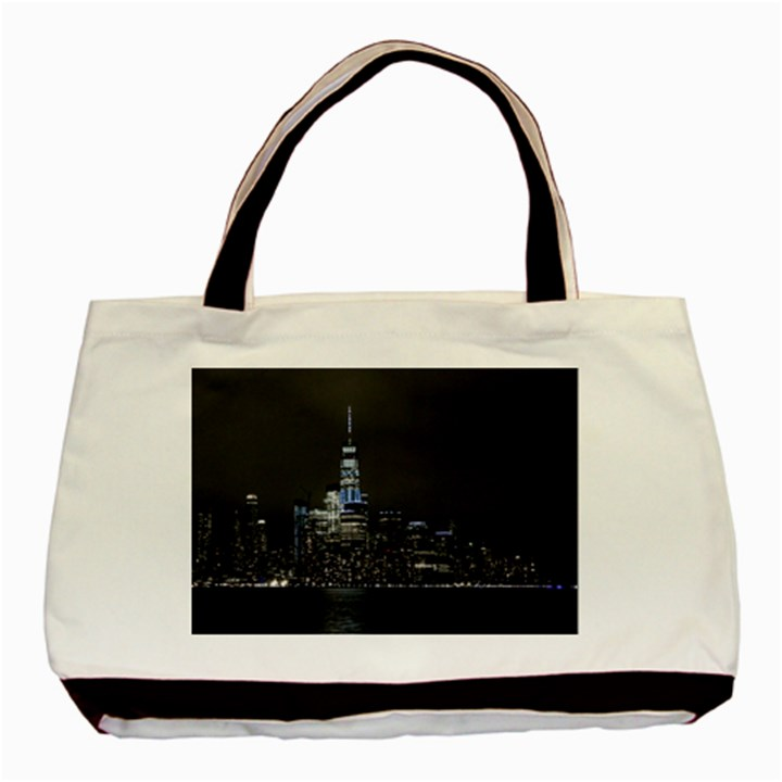 New York Skyline New York City Basic Tote Bag (Two Sides)