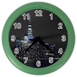 New York Skyline New York City Color Wall Clock Front