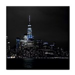 New York Skyline New York City Face Towel Front