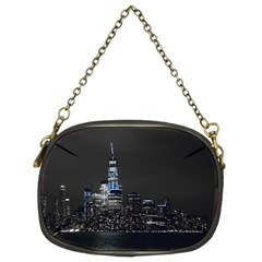 New York Skyline New York City Chain Purse (two Sides)