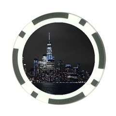 New York Skyline New York City Poker Chip Card Guard (10 Pack)