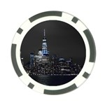 New York Skyline New York City Poker Chip Card Guard (10 pack) Back