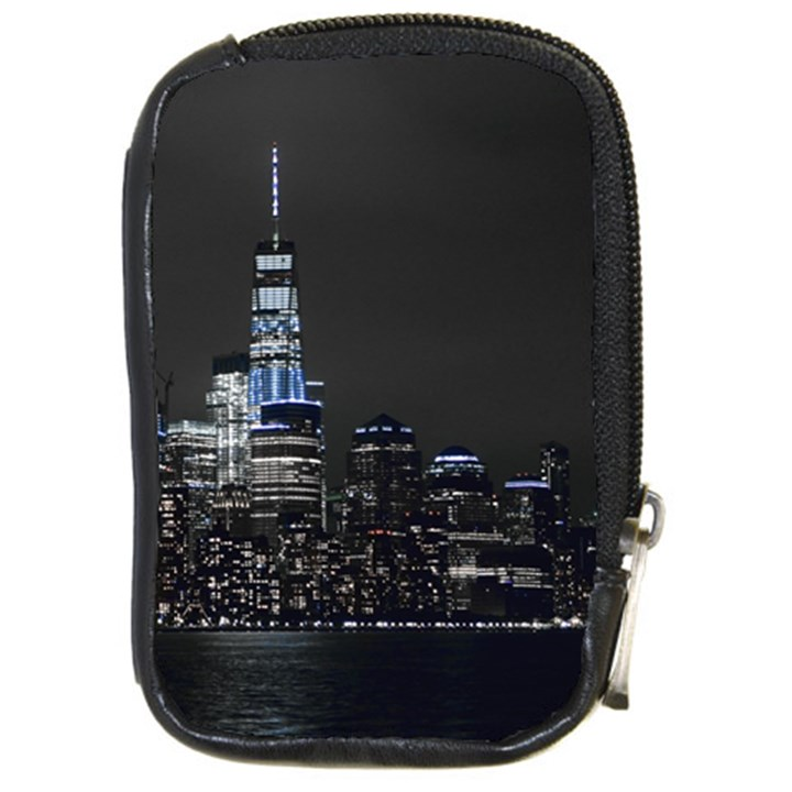 New York Skyline New York City Compact Camera Leather Case