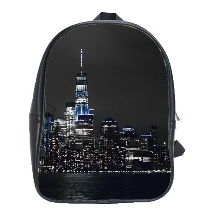 New York Skyline New York City School Bag (Large)