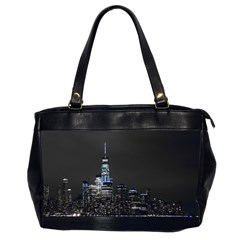 New York Skyline New York City Oversize Office Handbag (2 Sides)