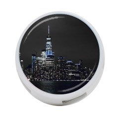 New York Skyline New York City 4 Port Usb Hub (one Side)