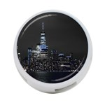 New York Skyline New York City 4-Port USB Hub (One Side) Front