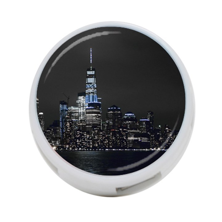 New York Skyline New York City 4-Port USB Hub (One Side)