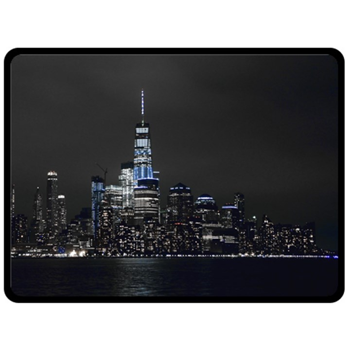 New York Skyline New York City Fleece Blanket (Large)
