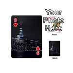 New York Skyline New York City Playing Cards 54 (Mini) Front - Heart9