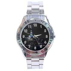 New York Skyline New York City Stainless Steel Analogue Watch