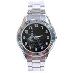 New York Skyline New York City Stainless Steel Analogue Watch Front