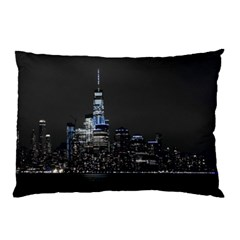 New York Skyline New York City Pillow Case (two Sides) by Nexatart