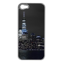 New York Skyline New York City Apple Iphone 5 Case (silver)