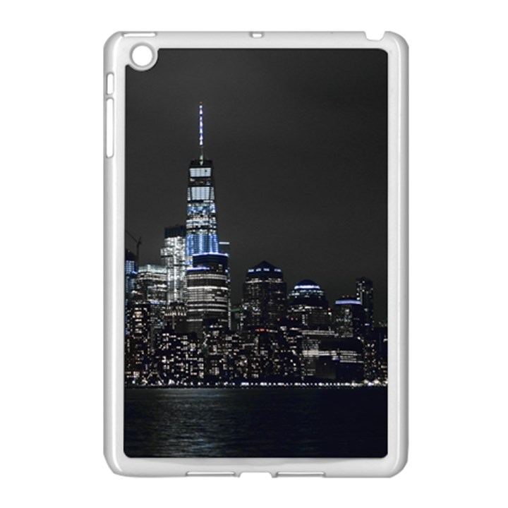 New York Skyline New York City Apple iPad Mini Case (White)