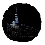 New York Skyline New York City Large 18  Premium Round Cushions Front