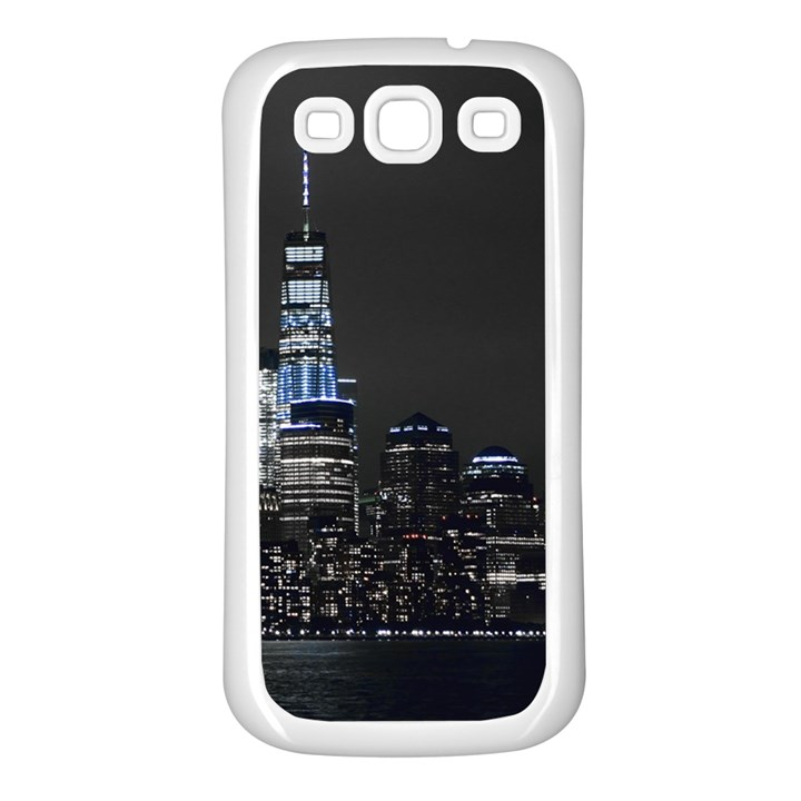 New York Skyline New York City Samsung Galaxy S3 Back Case (White)
