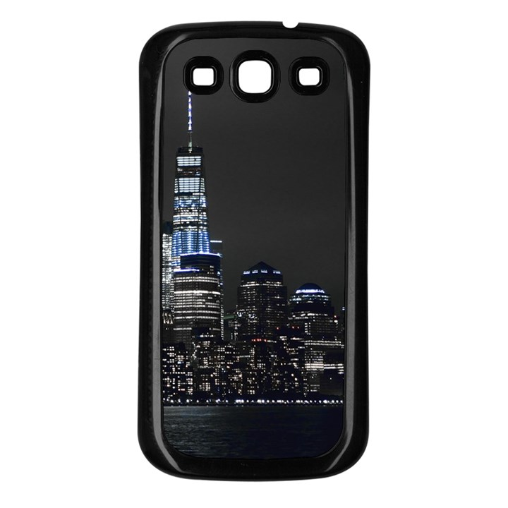 New York Skyline New York City Samsung Galaxy S3 Back Case (Black)
