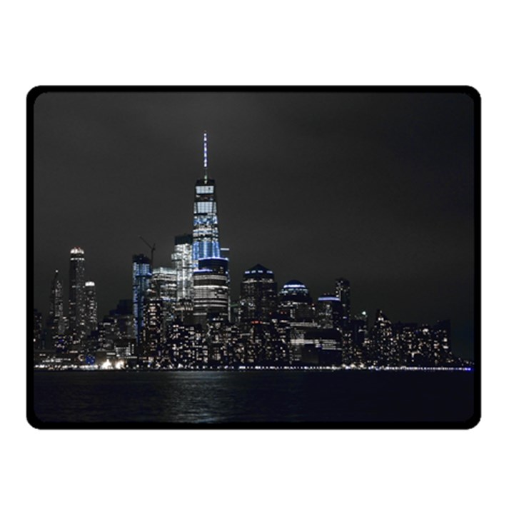 New York Skyline New York City Double Sided Fleece Blanket (Small)