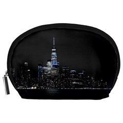 New York Skyline New York City Accessory Pouch (large)