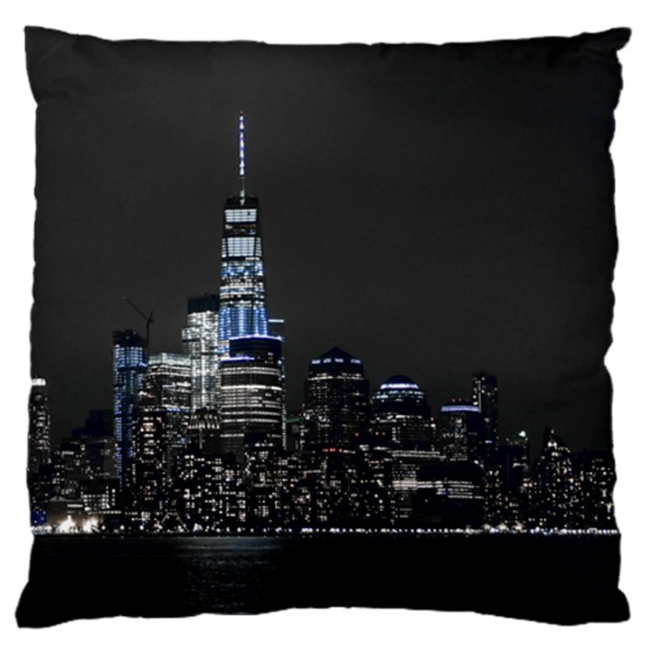 New York Skyline New York City Standard Flano Cushion Case (One Side)