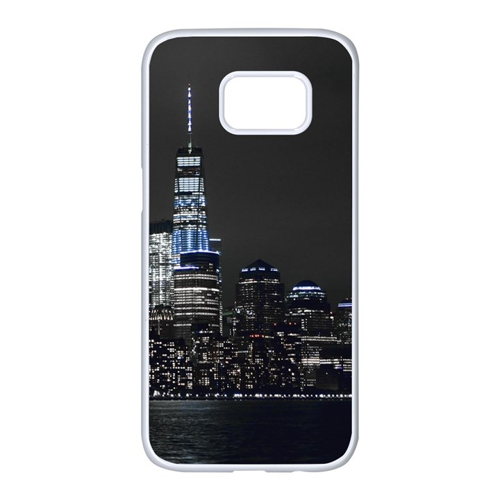 New York Skyline New York City Samsung Galaxy S7 edge White Seamless Case