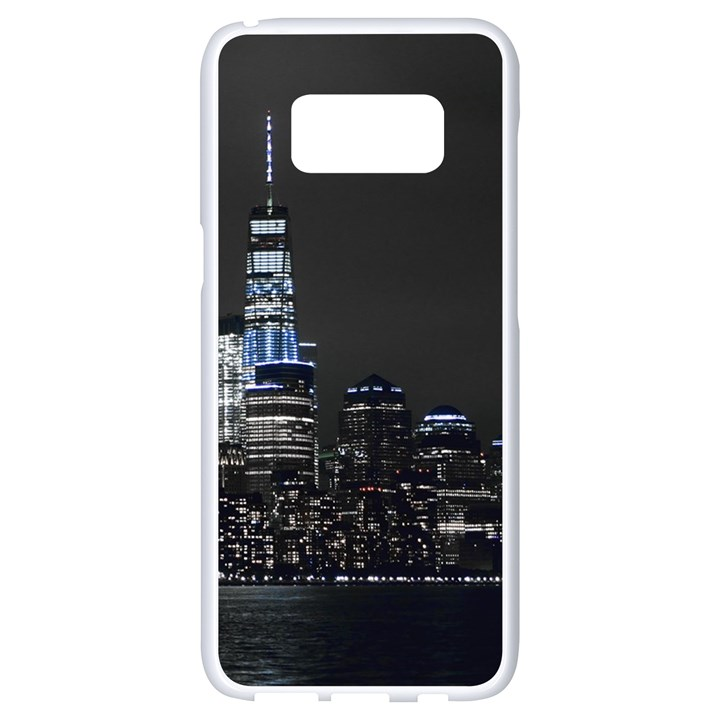 New York Skyline New York City Samsung Galaxy S8 White Seamless Case