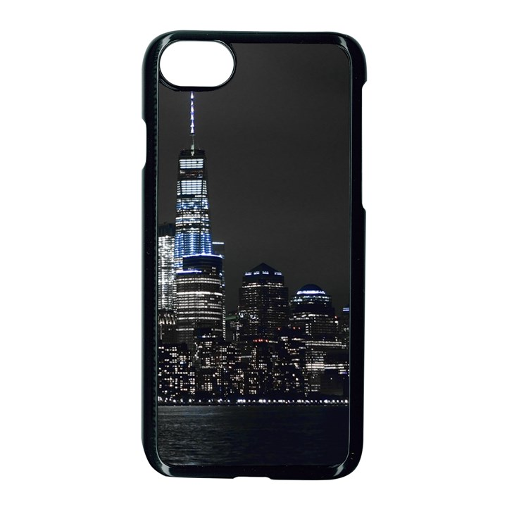 New York Skyline New York City Apple iPhone 8 Seamless Case (Black)