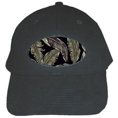 Jungle Leaves Tropical Pattern Black Cap