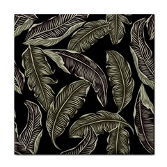 Jungle Leaves Tropical Pattern Tile Coasters