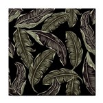 Jungle Leaves Tropical Pattern Tile Coasters Front