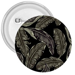 Jungle Leaves Tropical Pattern 3  Buttons