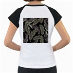 Jungle Leaves Tropical Pattern Women s Cap Sleeve T Back