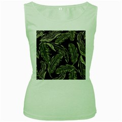 Jungle Leaves Tropical Pattern Women s Green Tank Top by Nexatart
